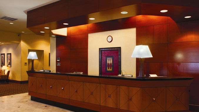 Front Desk and Lobby