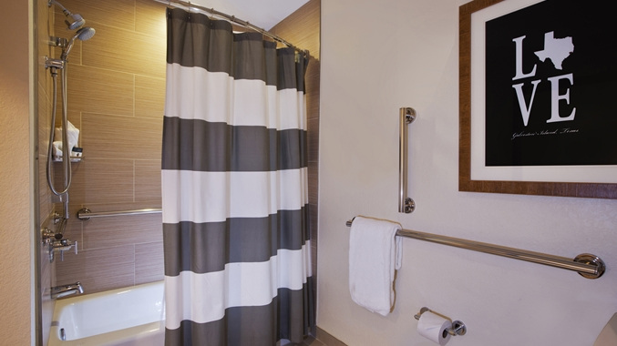 Accessible Tub with Grab Bars