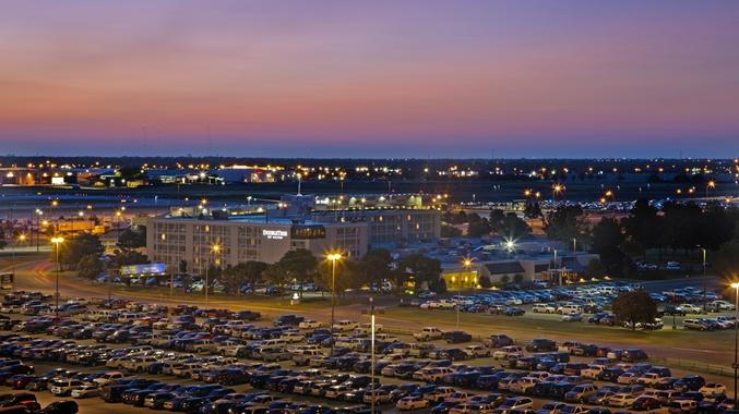 Panoramic Night View of Hotel Exterior