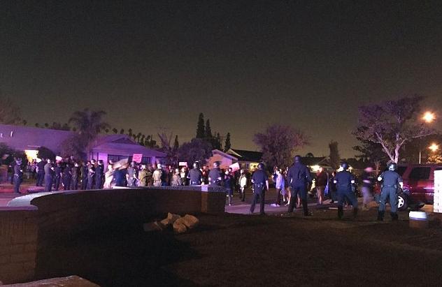 "Protestors in<a class=""tooltippable"" data-mce-href=""/Anaheim%2C_California/"" data-username=""Anaheim%2C_California"" href=""/Anaheim%2C_California/"">Anaheim, California</a>"