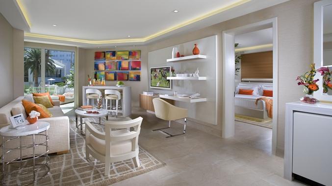 Tropicana Las Vegas – a DoubleTree by Hilton Hotel, NV -Pool Villa Living Room