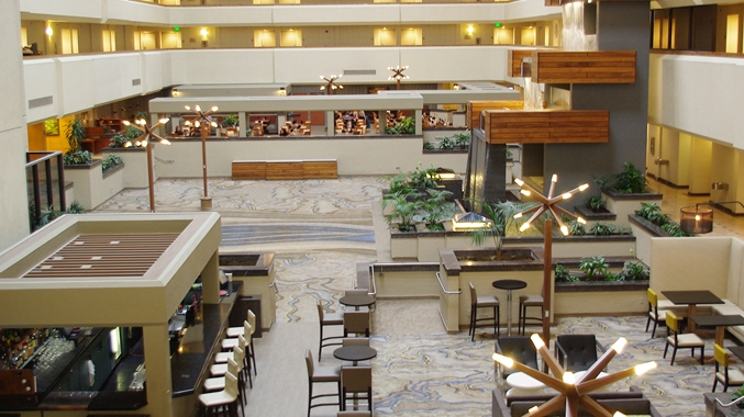 Full View of Hotel Lobby