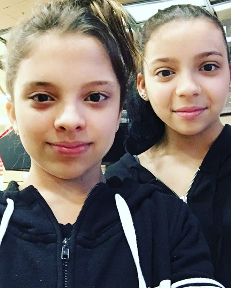 Jayce with her twin Sister, Cree Cicchino.[4]