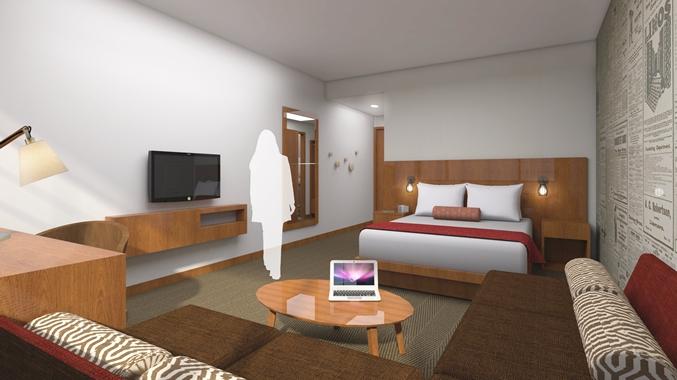 Queen Bed Guest Room, Bed
