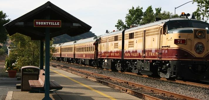 Napa Valley Wine Train & Waiting Area