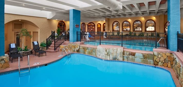 Indoor Pool with Loungers