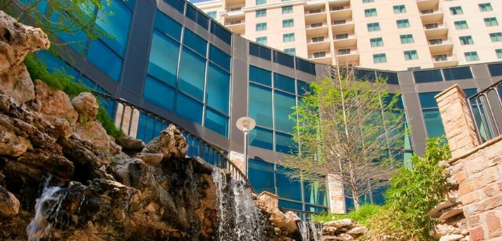Exterior Waterfall View