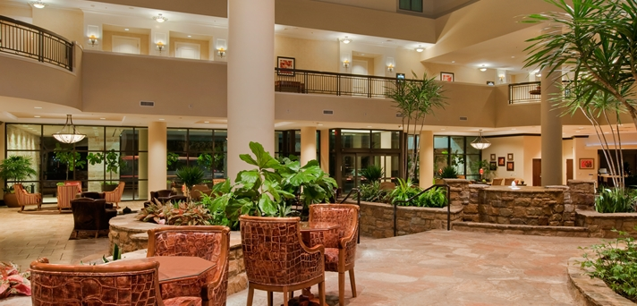 Lobby and Water Feature View