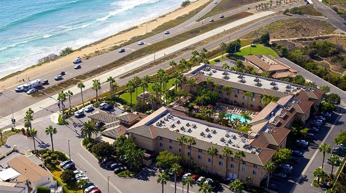 Hilton Garden Inn Carlsbad Beach Aerial View