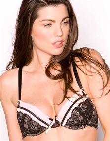 Picture of Pour Moi Desire Padded Plunge Bra Black/Pink