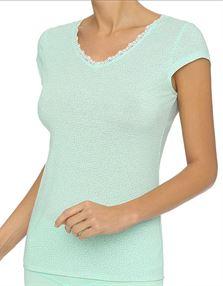 Picture of Lingadore Ysha T-Shirt Ocean Green Print