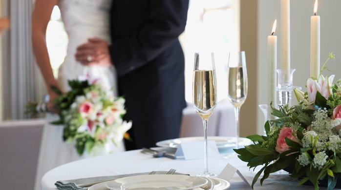 Wedding Table with Wedding Couple