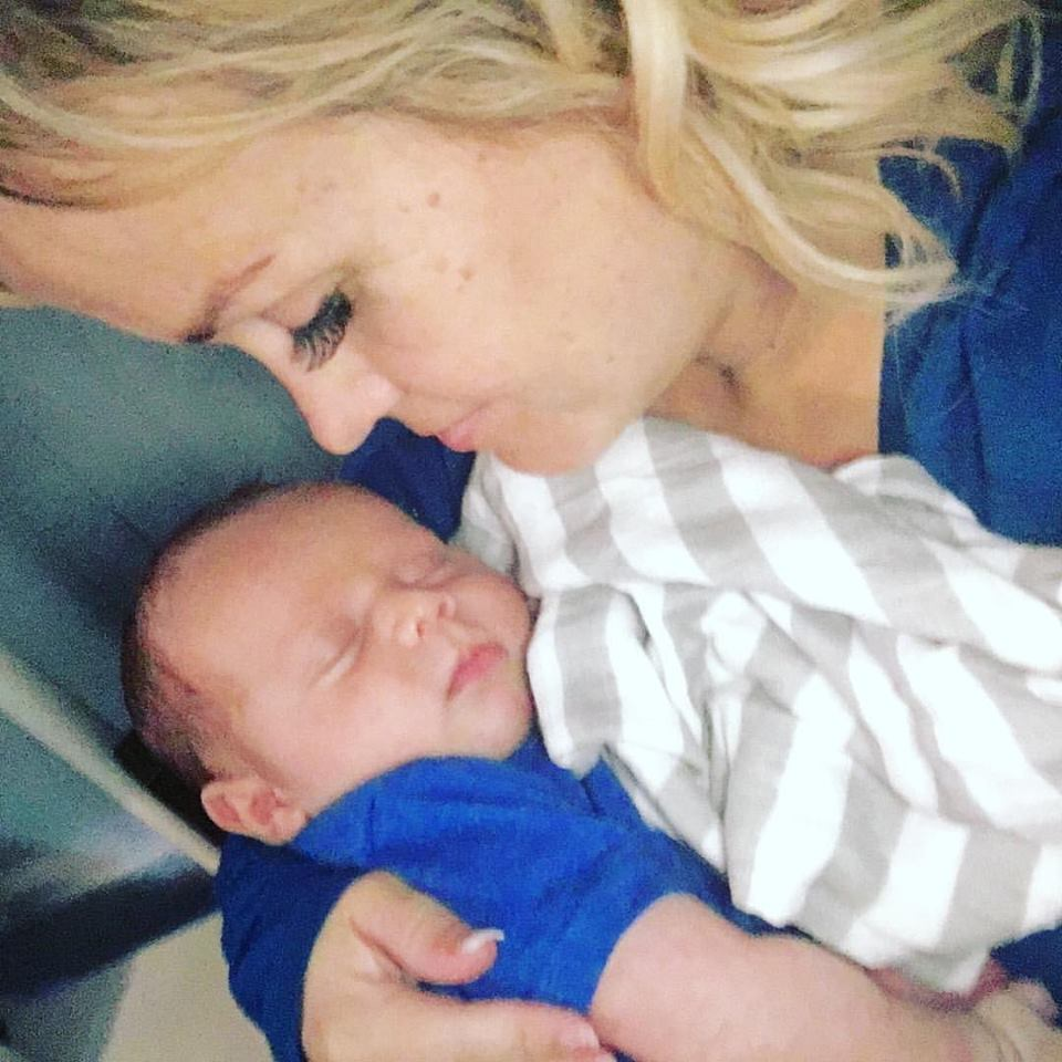 Photo of Terra Jole with her son[6]