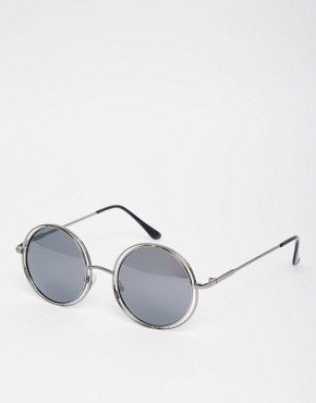 AJ Morgan Round Metal Sunglasses
