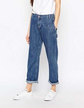 Bethnals Smith Relaxed Boyfriend Jeans With Rolled Hem
