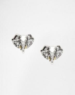 Bill Skinner Elephant Stud Earrings