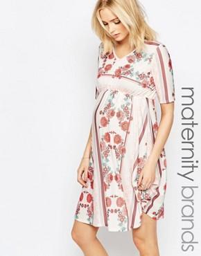 Bluebelle Maternity Floral Print Skater Dress
