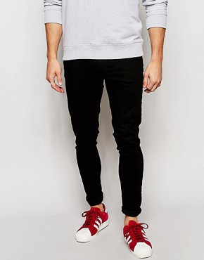 Brooklyn Supply Co Jeans Super Skinny Fit Clean Black