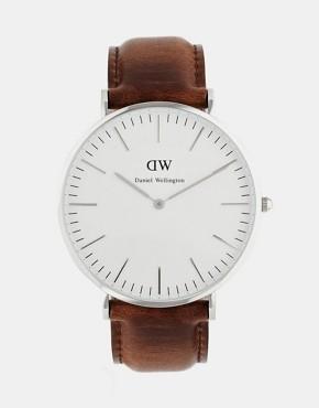 Daniel Wellington Bristol 40mm Leather Strap Watch