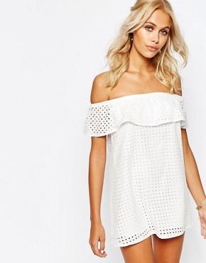 Fashion Union Crop Layer Cami Dress