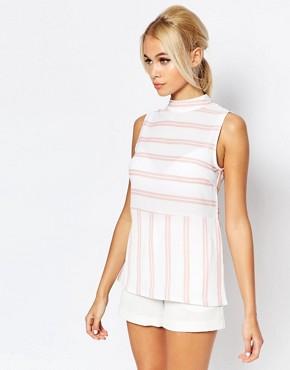 Fashion Union Longline Striped Vest Top