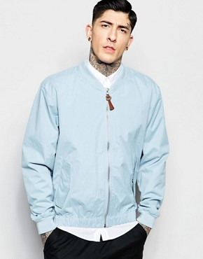 Fat Moose Bomber Jacket in Blue
