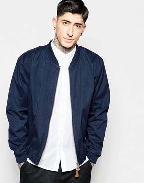 Fat Moose Bomber Jacket in Navy