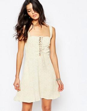 Flynn Skye Leila Lace Up Mini Dress in Sunny Delight Print