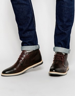 Frank Wright Barnet Leather Chukka Boots