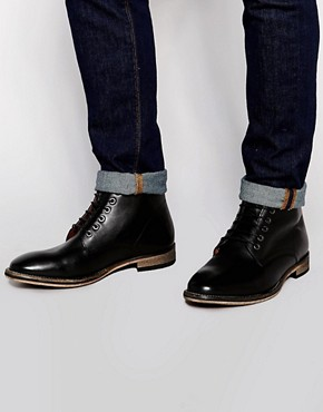 Frank Wright Oval Leather Boots