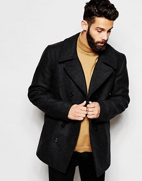 Gloverall Peacoat in Wool
