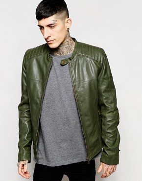 Goosecraft Leather Biker Jacket