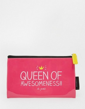 Happy Jackson Queen Of Awesome Large Pencil Case