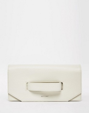 Matt & Nat Aboki Fold Over Clutch with Hand Grab in Ivory