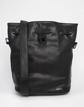 Matt & Nat Bucket Bag with Drawstring Tie