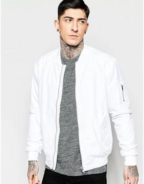 Minimum Bomber Jacket In White