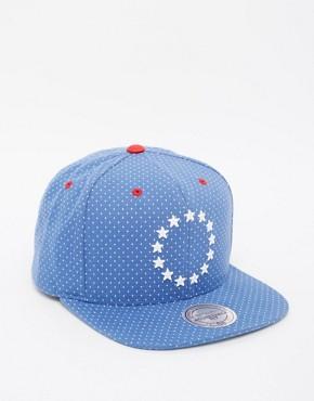 Mitchell & Ness Dotted Philadelphia 76ers Snapback Cap