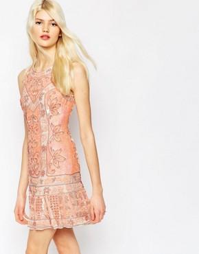 Needle & Thread Embellished Lace Mini Dress