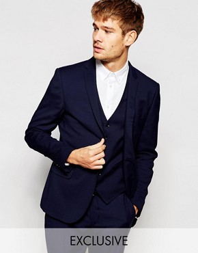 Number Eight Savile Row Exclusive Suit Jacket in Skinny Fit