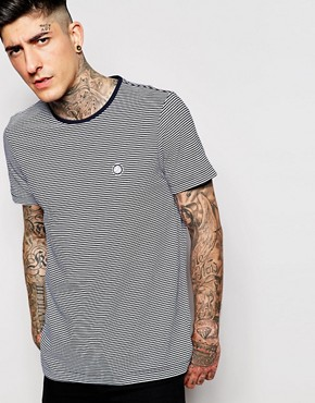 Pretty Green T-Shirt with Fine Stripe