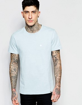 Pretty Green T-Shirt with Crew Neck in Sky Blue