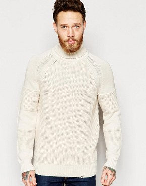 Pretty Green Roll Neck Jumper with Panels