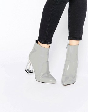 Public Desire Claudia Clear Heeled Patent Boots