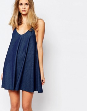Rollas Strappy Denim Cami Dress