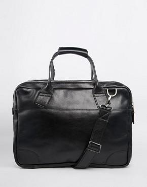 Royal RepubliQ Nano Big Zip Leather Briefcase Bag