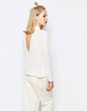 Samsoe & Samsoe Theta High Neck Top with Plunge Back