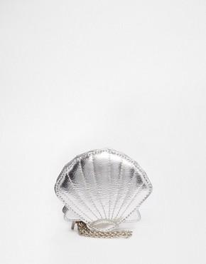 Skinnydip Seashell Coin Purse in Silver