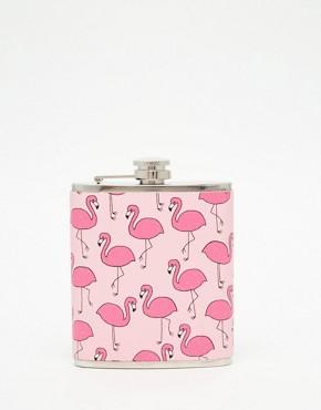 Skinnydip Flamingo Hip Flask