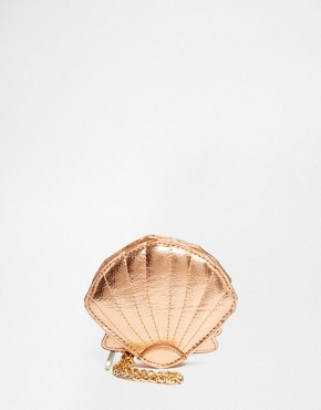Skinnydip Seashell Coin Purse in Rose Gold