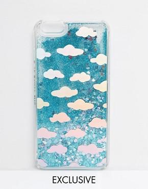 Skinnydip Holographic Cloud Liquid Glitter iPhone 6/6s Plus Case